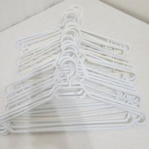 25 Assorted Plastic Hangers - White